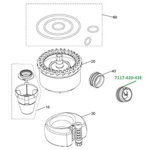 Клапан для сепаратора CS1 (2 шт в уп.) 7117-420-43E фото