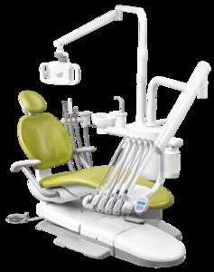 A-DEC 300P, стоматологическая установка с верхней подачей инструментов фото